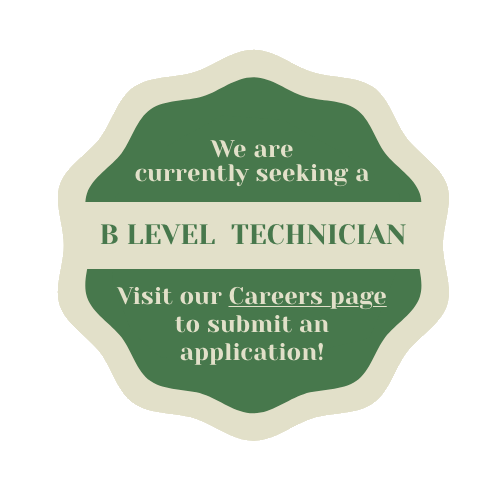 hiring b level technicians.  Click for info